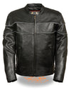 Men's Side Stretch Jacket W/ Reflective Piping - Divine Leather USA - 1