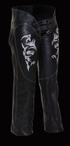Women's Chap W/ Reflective Tribal Embroidery - Divine Leather USA - 4