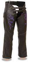 Women's Chap W/ Reflective Tribal Embroidery - Divine Leather USA - 5