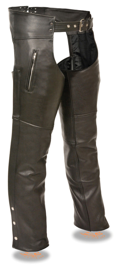 Men's Classic Chap W/ Zipper Thigh Pocket - Divine Leather USA