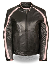 Women Jacket with Stud & Wings Detailing -- Pink