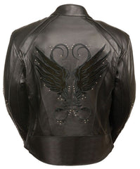 Women Jacket with Stud & Wings Detailing