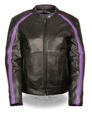 Women Jacket with Stud & Wings Detailing - Purple