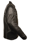 Men's Naked Leather Reflected Vented Jacket - Divine Leather USA - 5