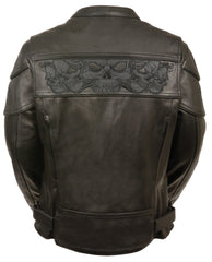 WOMEN'S Scooter Jacket With Reflective Skull