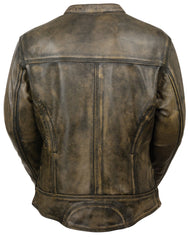 Women's Vented Scooter Jacket Brown