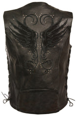 Women's Vest W/ Stud & Wings Detailing