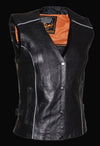 Women's Vest W/ Stud & Wings Detailing - Divine Leather USA - 4