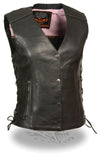 Women's Vest W/ Stud & Wings Detailing - Divine Leather USA - 5