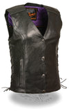 Women's Vest W/ Stud & Wings Detailing - Divine Leather USA - 9