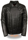 Men's High End Utility Pocket Vented Cruiser Jacket - Divine Leather USA - 3