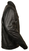 Men's High End Utility Pocket Vented Cruiser Jacket - Divine Leather USA - 4