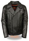 Men's High End Utility Pocket Vented Cruiser Jacket - Divine Leather USA - 1
