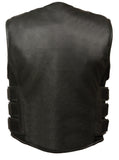 Men's Swat Style Zipper Front Vest - Divine Leather USA - 2