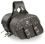 Medium Zip-Off PVC Studded Throw Over Saddle Bag - Divine Leather USA - 2