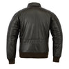 Men's Air Force A-2 WWII Style Vintage Dark Brown Flight Bomber Leather Jacket - Divine Leather USA - 2