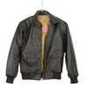 Men's Air Force A-2 WWII Style Vintage Dark Brown Flight Bomber Leather Jacket - Divine Leather USA - 5