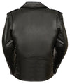 MEN'S CLASSIC SIDE Lcae Police Style M/C Jacket W/ Full Sleeve Zip-Out Liner - Divine Leather USA - 2