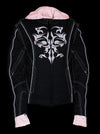 Women Motorcycle Nylon Jacket w/ Embroidery & Reflective Tribal Design - Divine Leather USA - 4
