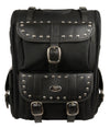 Motorcycle Extra Large Two Piece Studded Nylon Touring Pack - Divine Leather USA - 1