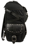 Motorcycle Extra Large Two Piece Studded Nylon Touring Pack - Divine Leather USA - 6