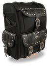 Motorcycle Extra Large Two Piece Studded Nylon Touring Pack - Divine Leather USA - 3