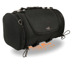 Large Nylon Duffle Style Sissy Bar Bag W/ Carry Strap