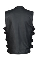 Men's SWAT Style Motorcycle Vest With Two Inside Pockets