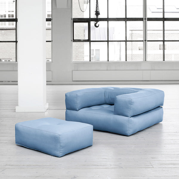 Fresh Futon Cube Chair & Ottoman