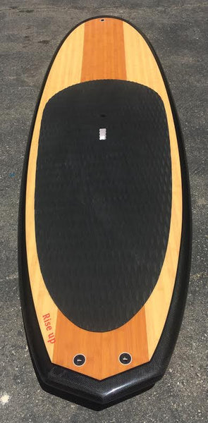 8'6 Carbon Paddle Board Rise Up bamboo Diamond Tail