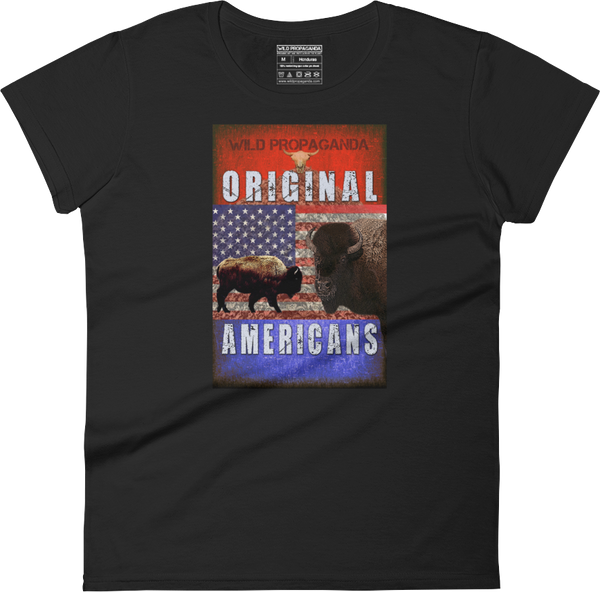 Buffalo - Original Americans - Women's crew neck T-shirt