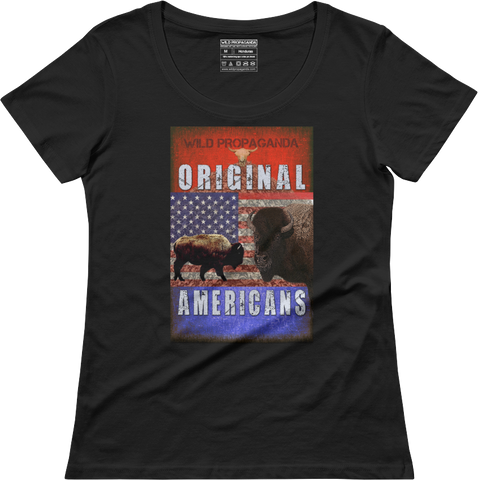 Buffalo Original Americans- Women's scoop neck T-shirt