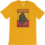 Chimpanzee - He loves me, he loves me not - Men's/Unisex T-shirt