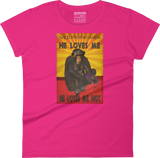 Chimpanzee - He loves me, he loves me not - Women's crew neck T-shirt