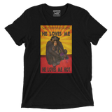 Chimpanzee- He loves me, He loves me not- Vintage Black Tee