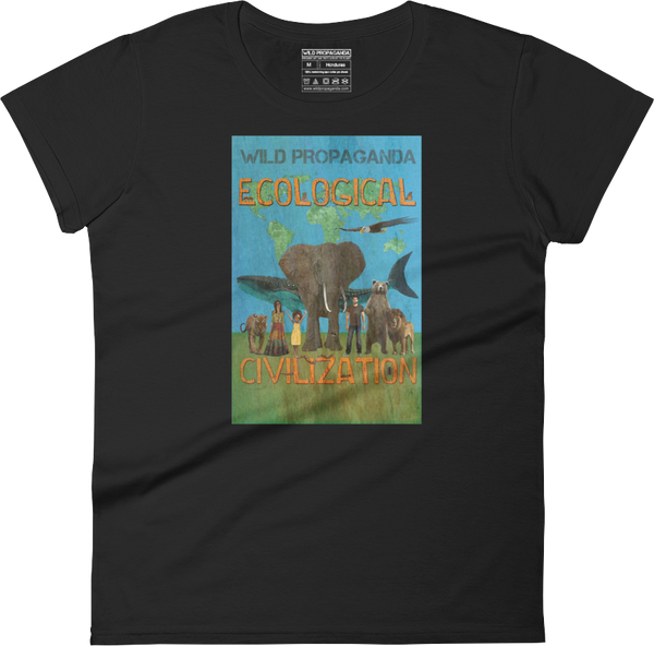 Ecological Civilization - Women's crew neck T-shirt