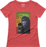 Gorilla - Will you miss me when I am gone? - Women's scoop neck T-shirt