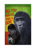Gorilla - Will you miss me when I'm gone? - Vintage Black Tee