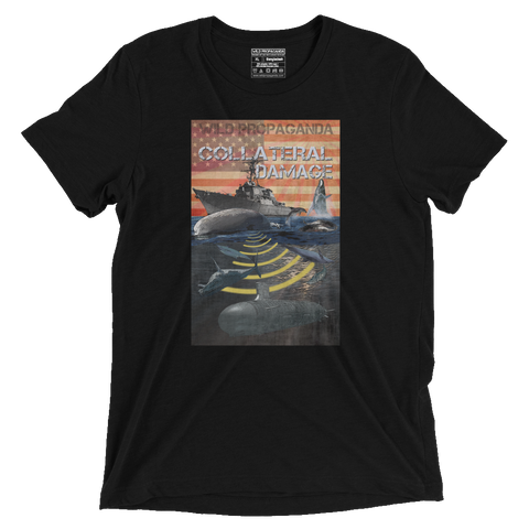 Whales - Collateral Damage - Vintage Black Tee