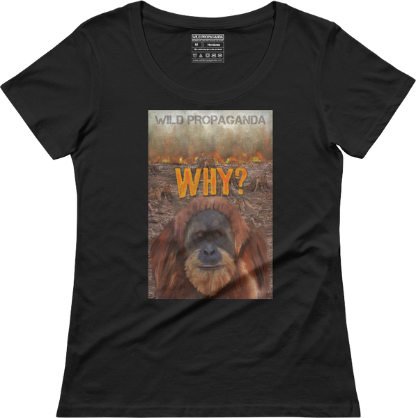 ORANGUTAN - WHY? - Women's scoop neck T-shirt