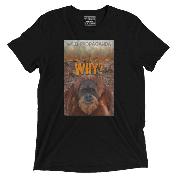 Orangutan - Why? - Vintage Black Tee