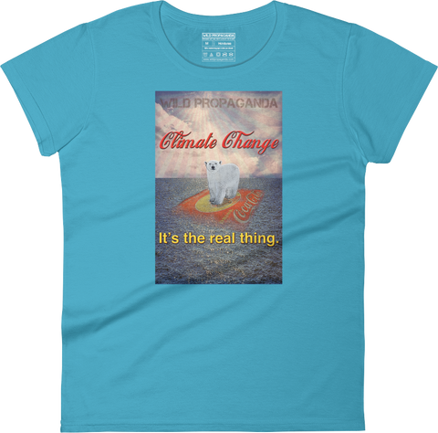 Climate Change - It's the real thing - Women's crew neck T-shirt