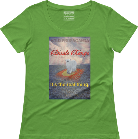 Climate Change - It's the real thing - Women's scoop neck T-shirt