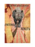Rhino - Fantasy/Reality - Vintage Black Tee