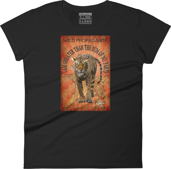 Tiger - I am greater than the sum of my parts - Women's crew neck T-shirt