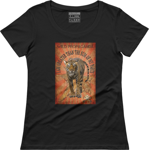 Tiger - I am greater than the sum of my parts - Women's scoop neck T-shirt