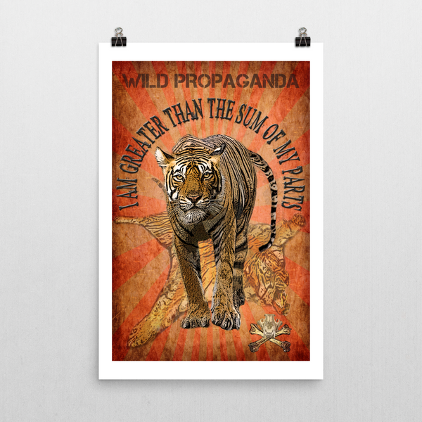 Tiger - I AM GREATER THAN THE SUM OF MY PARTS - Poster