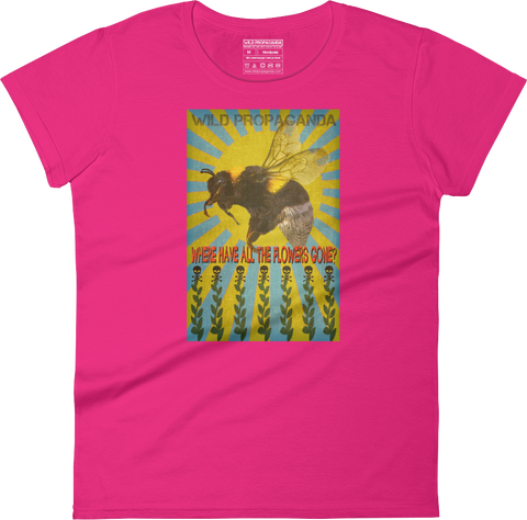 Wild Bees - Where have all the flowers gone? - Women's crew neck T-shirt