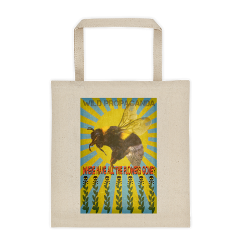 Wild Bees - Where have all the flowers gone? - Canvas Tote