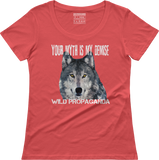 Wolf - Minimalist - Your myth is my demise - Women's scoop neck T-shirt